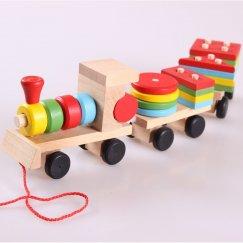 Деревянный поезд Wood Toys