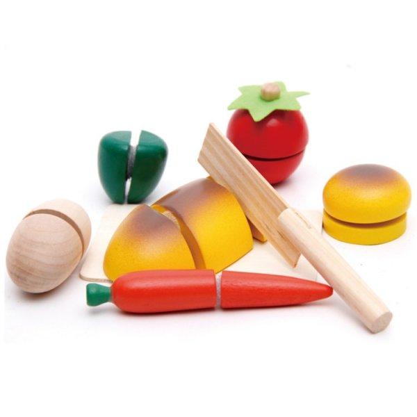 """Обучающая игра """"Нарезка фруктов и овощей"""" Wood Toys"""