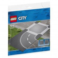 Набор лего - Дополнительные детали LEGO City 60237 Поворот и перекрёсток
