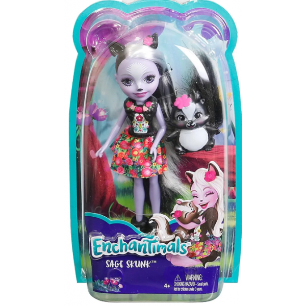 EnchanTimals en-DYC75 Кукла Mattel Enchantimals DYC75 Кукла Седж Скунси