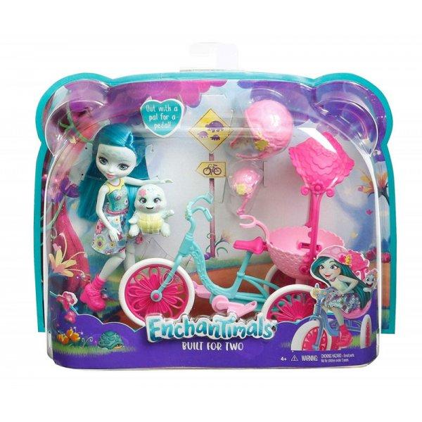 EnchanTimals en-FCC65 Кукла Mattel Enchantimals FCC65 Игровой набор Прогулка на велосипеде