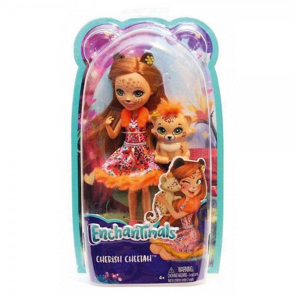 EnchanTimals en-FJJ20 Кукла Mattel Enchantimals FJJ20 Кукла с любимой зверюшкой - Чериш Гепарди