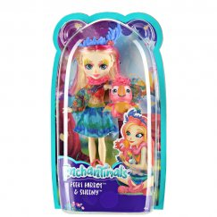 Кукла Mattel Enchantimals FJJ21 Кукла с любимой зверюшкой – Пикки Какаду