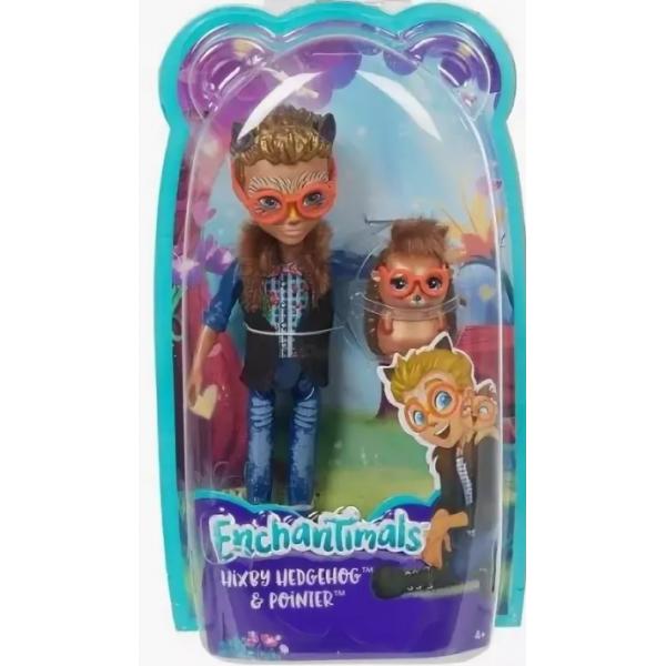 EnchanTimals en-FJJ22 Кукла Mattel Enchantimals FJJ22 Кукла с любимой зверюшкой – Хиксби ежик