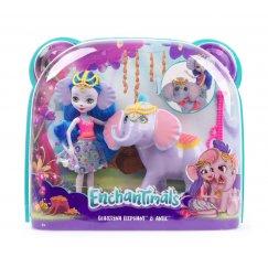Mattel Enchantimals FKY73 Кукла с большой зверюшкой Слон