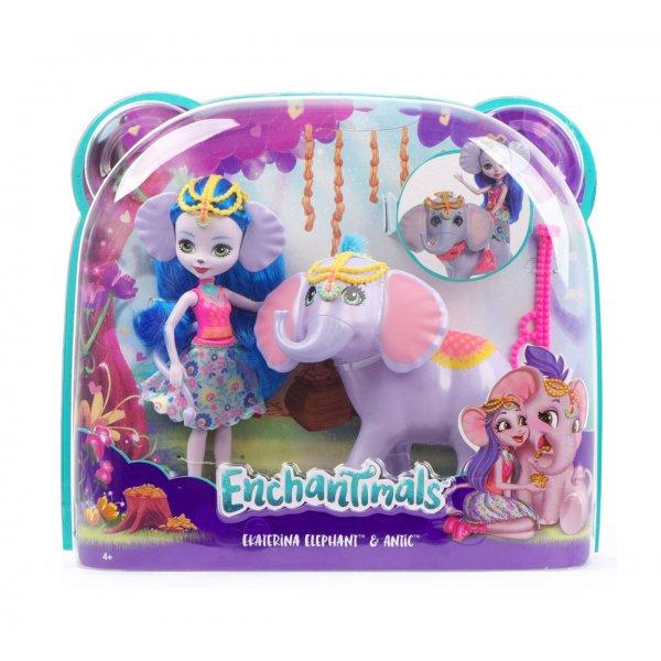 EnchanTimals en-FKY73 Кукла Mattel Enchantimals FKY73 Кукла с большой зверюшкой