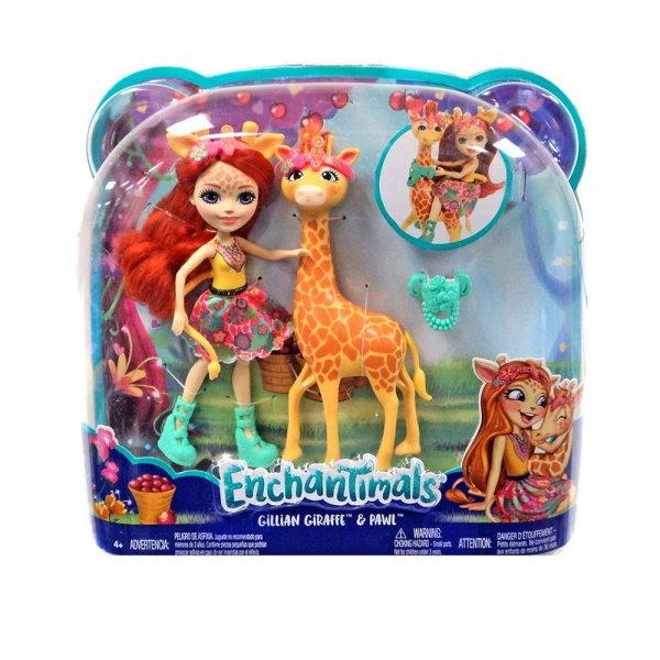 EnchanTimals en-FKY74 Кукла Mattel Enchantimals FKY74 Кукла с большой зверюшкой