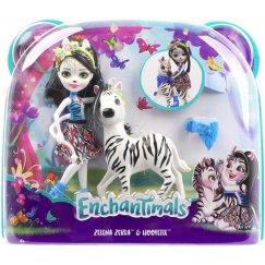 Mattel Enchantimals FKY75 Кукла с большой зверюшкой Зебра