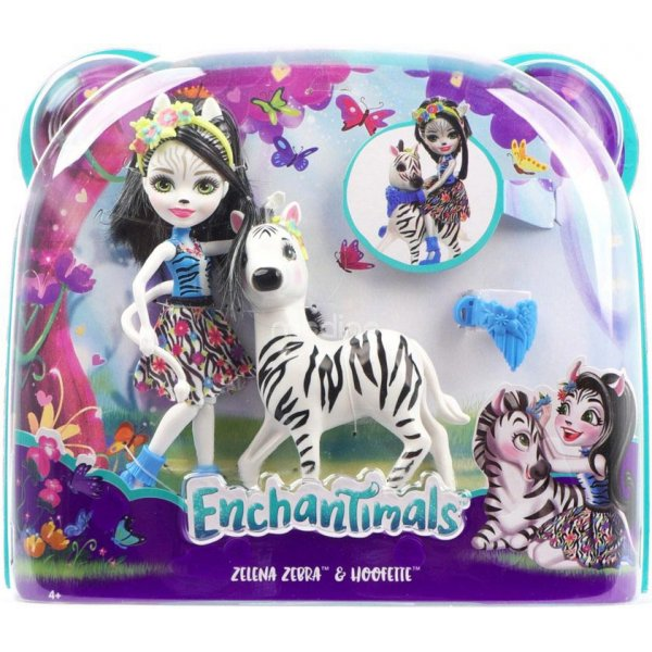 EnchanTimals en-FKY75 Кукла Mattel Enchantimals FKY75 Кукла с большой зверюшкой