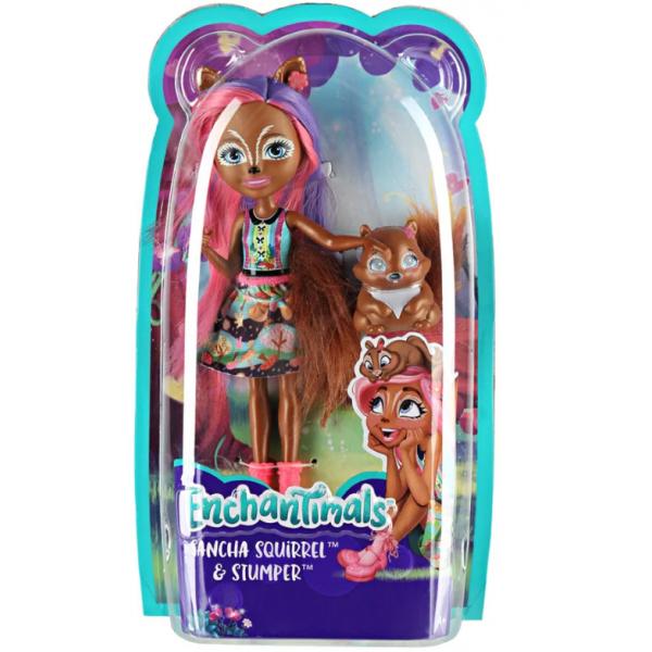 EnchanTimals en-FMT61 Кукла Mattel Enchantimals FMT61 Кукла с питомцем - Санча Белка