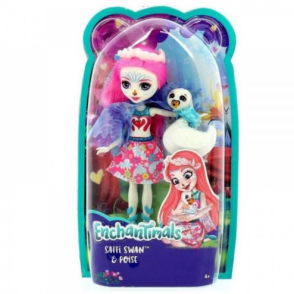 EnchanTimals en-FRH38 Кукла Mattel Enchantimals FRH38 Кукла с питомцем - Лебедь Саффи