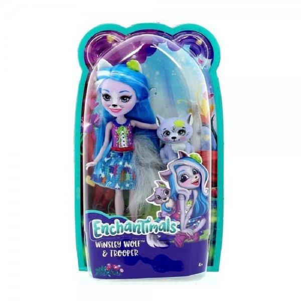 EnchanTimals en-FRH40 Кукла Mattel Enchantimals FRH40 Кукла с питомцем - Волчица Винсли