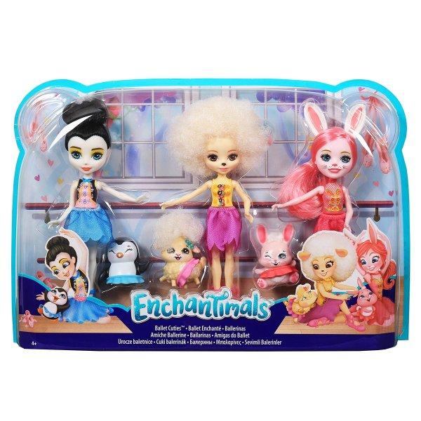 EnchanTimals en-FRH55 Куклы Mattel Enchantimals FRH55 Набор из трех кукол Волшебные балерины