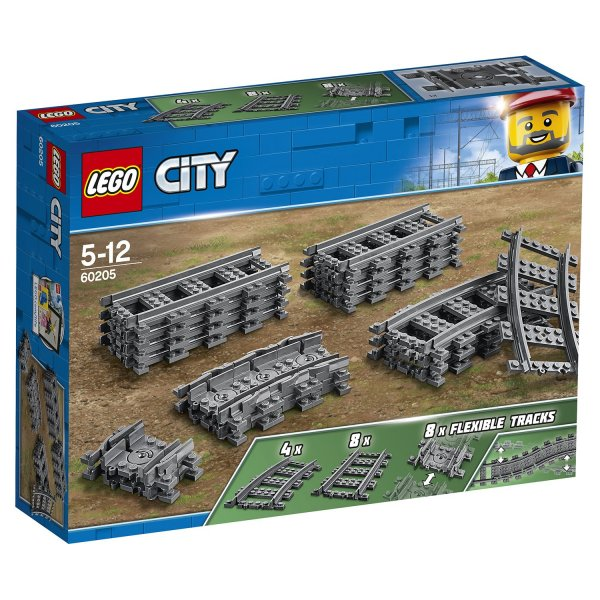 LEGO City 60205 Конструктор LEGO City Trains Рельсы