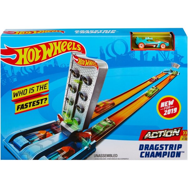 Hot Wheels GBF81/GBF82 Набор игровой Hot Wheels GBF82 Чемпион Дрэгстрип
