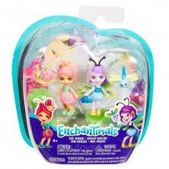 Куклы Mattel Enchantimals FXM86 / FXM87 Игровой набор Друзья букашки Саксон и Дара