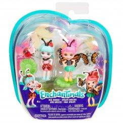 Куклы Mattel Enchantimals FXM86 / FXM87 Игровой набор Друзья букашки Бакси и Ладелия