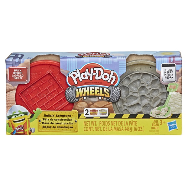Play-Doh E4524/E4508 Пластилин Hasbro Play-Doh Wheels Набор пластилина Плей-До Кирпич и камень