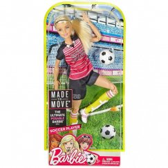 Barbie DVF69 Безграничные движения Футболистка Блондинка