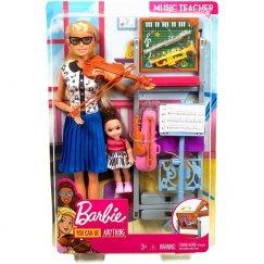 Набор кукол Barbie Кем быть? Учитель музыки, 29 см и 10 см, FXP18