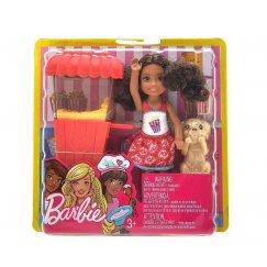 Кукла Barbie Челси и щенок, 16 см, FHP68