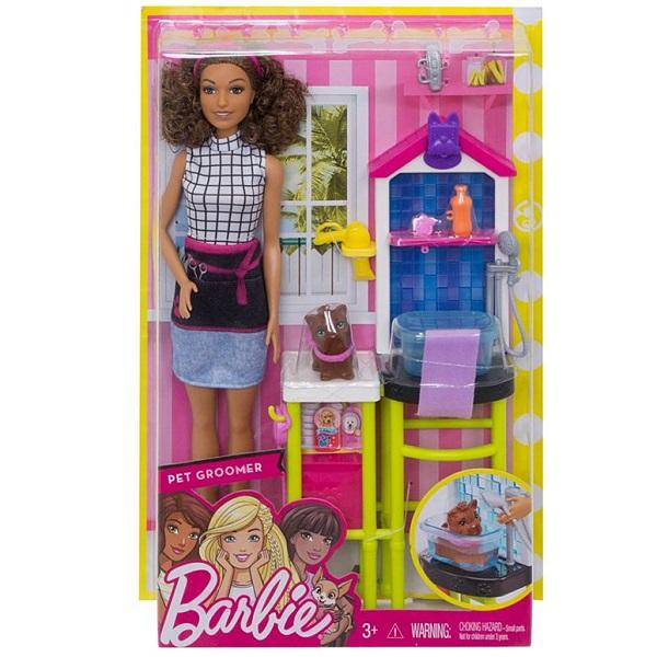 Кукла  Mattel Barbie Профессии FJB31 Барби Салон для собак