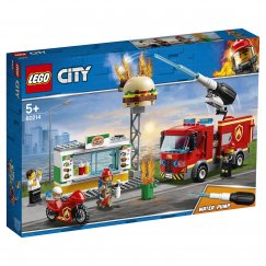 Конструктор LEGO City Fire Пожар в бургер-кафе 60214