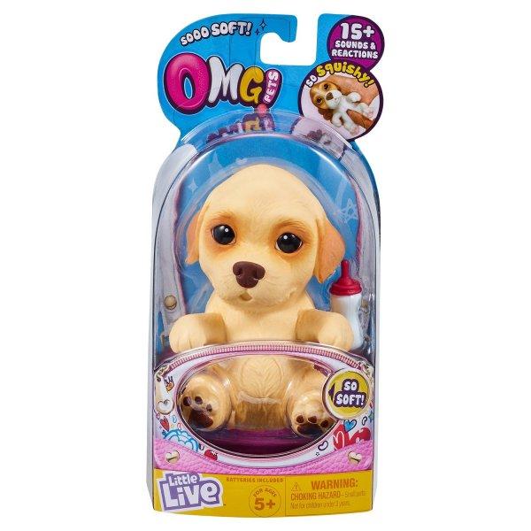 28920 Интерактивная игрушка робот Moose Little Live Pets 28920 Cквиши-щенок Лабрадор