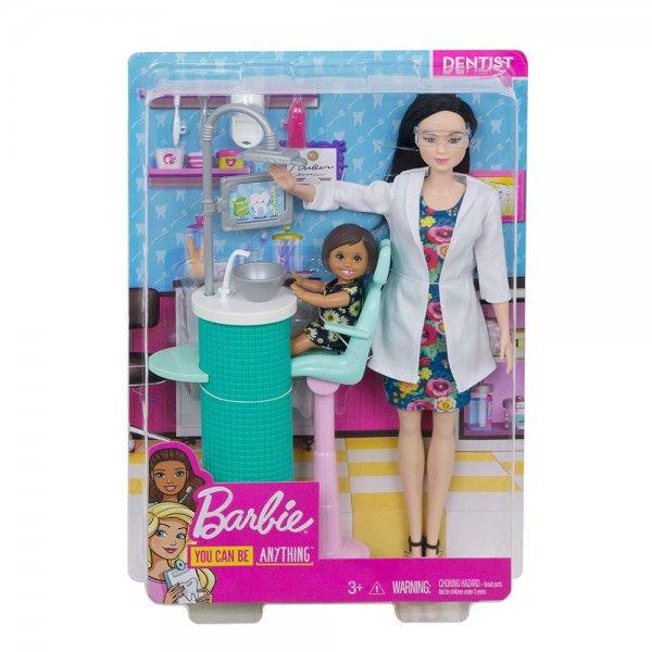 Игровой набор Barbie Профессии Брюнетка Стоматолог