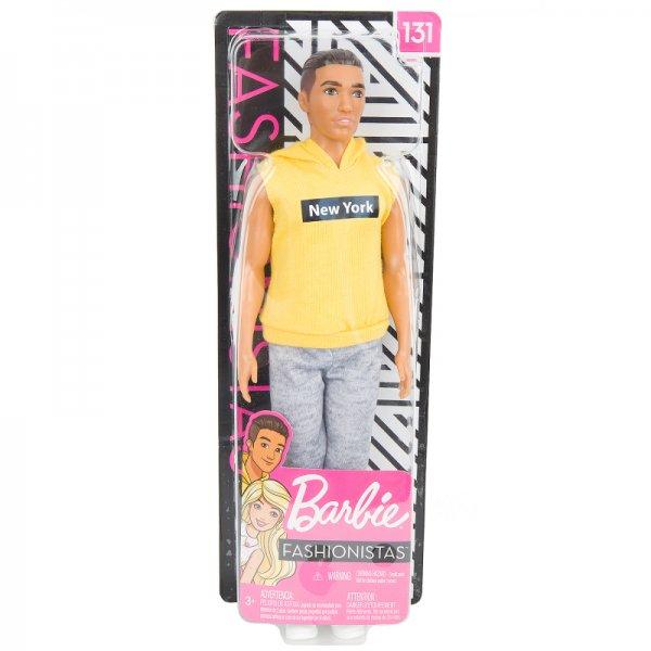 Кукла Barbie Игра с модой Кен в серых штанах и желтой футболке, 30 см, GDV14
