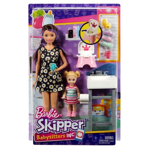 Barbie Игровой набор с куклой Няня FHY97 FJB01