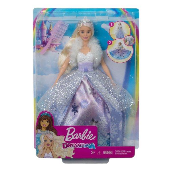 Интерактивная кукла Barbie Снежная принцесса, GKH26