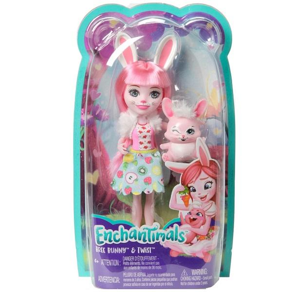 EnchanTimals Fxm73 Кукла Mattel Enchantimals FXM73 Кукла с питомцем Кролик Бри
