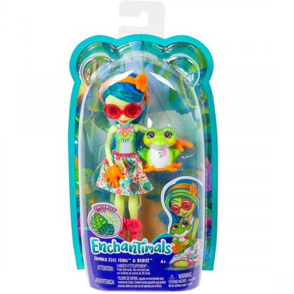 "ENCHANTIMALS ""Кукла с любимой зверюшкой Tamika Tree Frog & Burst FNH22/GFN43"