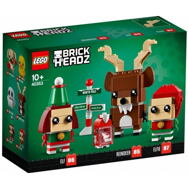Набор Лего Конструктор LEGO BrickHeadz 40353 Олень и эльфы