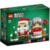 Набор лего - Конструктор LEGO BrickHeadz 40274 Семья Деда Мороза