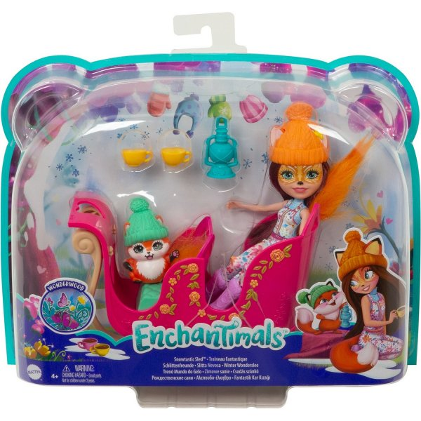 Игровой набор Mattel Enchantimals Рождественские сани GJX31