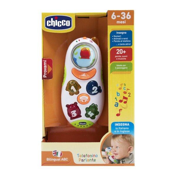 71408000180 Интерактивная развивающая игрушка Chicco Говорящий телефон рус/англ