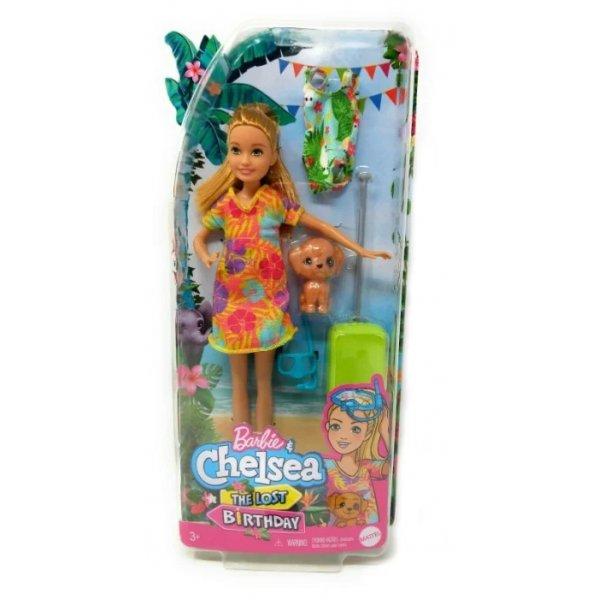 Barbie Кукла Стейси рыжеволосая в платье с питомцем GRT89
