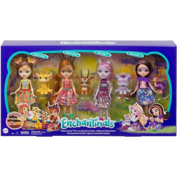 Игровой набор Mattel Enchantimals Друзья в Солнечной Саванне GYN57