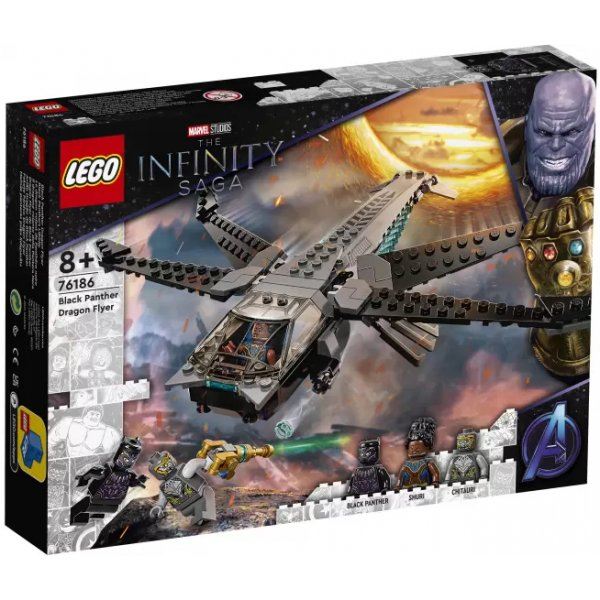 Конструктор LEGO Marvel Avengers Movie 4 76186 Корабль Чёрной Пантеры Дракон