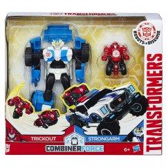 Трансформер Hasbro Transformers Стронгарм и Трикаут. Гирхэд-Комбайнер (Роботы под прикрытием)