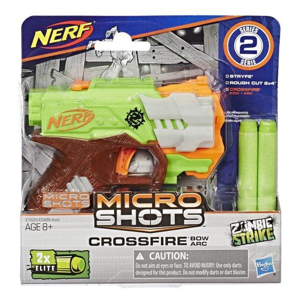 NERF E1625/E0489 Игрушка Hasbro Микрошоты класcические Кроссфайр