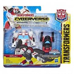 Трансформер Hasbro Transformers Рэтчет и Близзард Брейкер. Spark Armor Battle (Кибервселенная) E4299