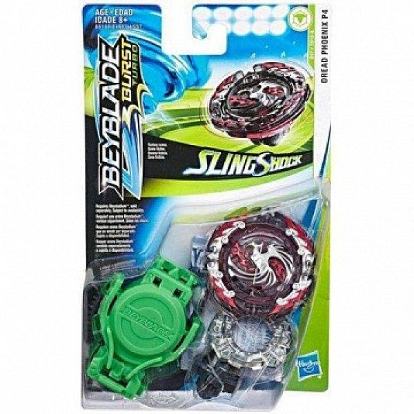 E6168/E4603 Волчок Hasbro Bey Blade СлингШок E6168/E4603 с пусковым устройством Dread Phoenix P4