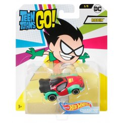 Машинка Hot Wheels FLJ10 DC Teen Titans Go Robin