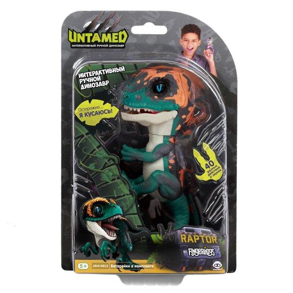 Динозавр Fingerlings Untamed интерактивный Dino Темно-зеленый с бежевым 3783