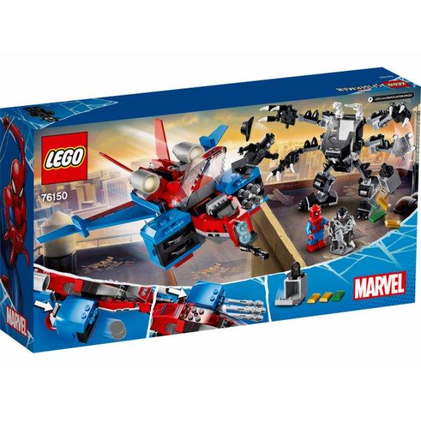 Lego Super Heroes 76150 Реактивный самолёт Человека-Паука против Робота Венома