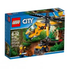 Набор лего - Конструктор LEGO City 60158 Грузовой вертолёт исследователей джунглей