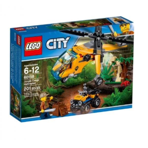 60158 Конструктор LEGO City 60158 Грузовой вертолёт исследователей джунглей